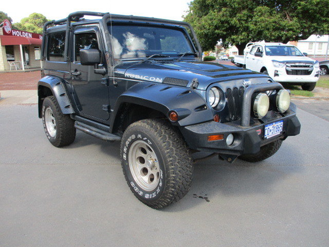 Used Jeep Wrangler Rubicon Katanning, 2008 Jeep Wrangler JK 2 Door Rubicon Blue 6 Speed Manual Hardtop