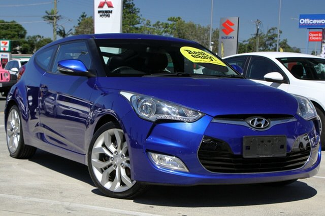 Used Hyundai Veloster FS Coupe D-CT Aspley, 2011 Hyundai Veloster FS Coupe D-CT Blue 6 Speed Sports Automatic Dual Clutch Hatchback