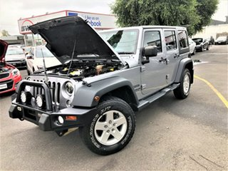 2013 Jeep Wrangler JK MY2014 Unlimited Sport Silver 5 Speed Automatic Softtop