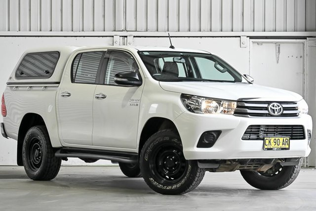 Used Toyota Hilux GUN126R SR Double Cab Laverton North, 2016 Toyota Hilux GUN126R SR Double Cab White 6 Speed Sports Automatic Cab Chassis