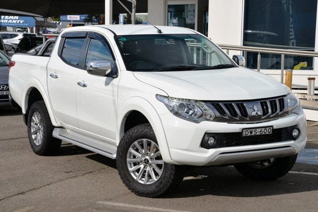 Used Mitsubishi Triton MQ MY18 GLS Double Cab North Gosford, 2018 Mitsubishi Triton MQ MY18 GLS Double Cab White 5 Speed Sports Automatic Utility