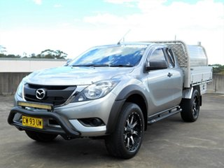 2015 Mazda BT-50 UP0YF1 XT Freestyle 4x2 Hi-Rider Grey 6 Speed Sports Automatic Cab Chassis