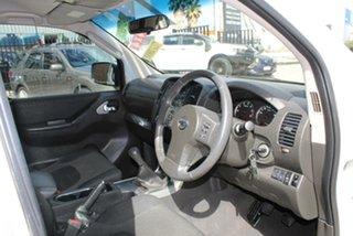 2012 Nissan Navara D40 ST (4x4) White 6 Speed Manual Dual Cab Pick-up