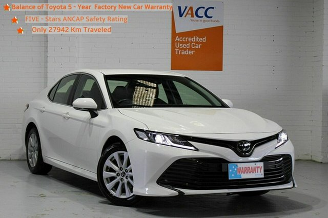 Used Toyota Camry ASV70R Ascent Moorabbin, 2019 Toyota Camry ASV70R Ascent White 6 Speed Sports Automatic Sedan