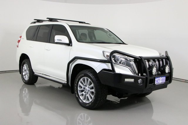Used Toyota Landcruiser Prado GDJ150R MY16 VX (4x4) Bentley, 2016 Toyota Landcruiser Prado GDJ150R MY16 VX (4x4) White 6 Speed Automatic Wagon