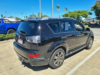 2008 Mitsubishi Outlander ZG MY09 VR-X Black 6 Speed Sports Automatic Wagon.