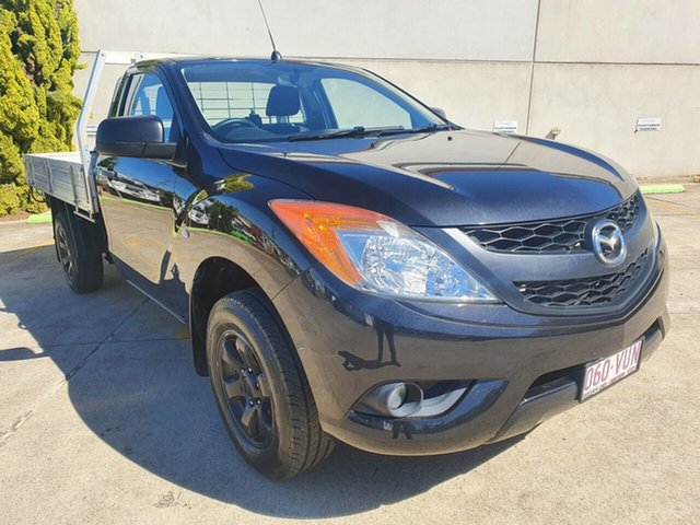 Used Mazda BT-50 UP0YD1 XT 4x2 Toowoomba, 2015 Mazda BT-50 UP0YD1 XT 4x2 Black 6 Speed Manual Cab Chassis