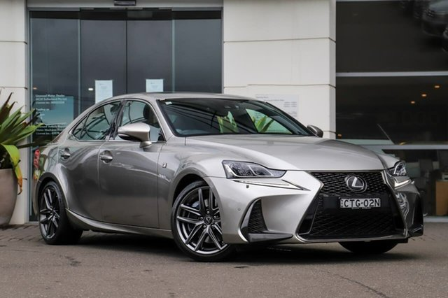 Used Lexus IS GSE31R IS350 F Sport Sutherland, 2018 Lexus IS GSE31R IS350 F Sport Silver, Chrome 8 Speed Sports Automatic Sedan