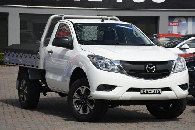 Used Mazda BT-50 UR0YE1 XT 4x2 Hi-Rider Parramatta, 2017 Mazda BT-50 UR0YE1 XT 4x2 Hi-Rider White 6 Speed Sports Automatic Cab Chassis