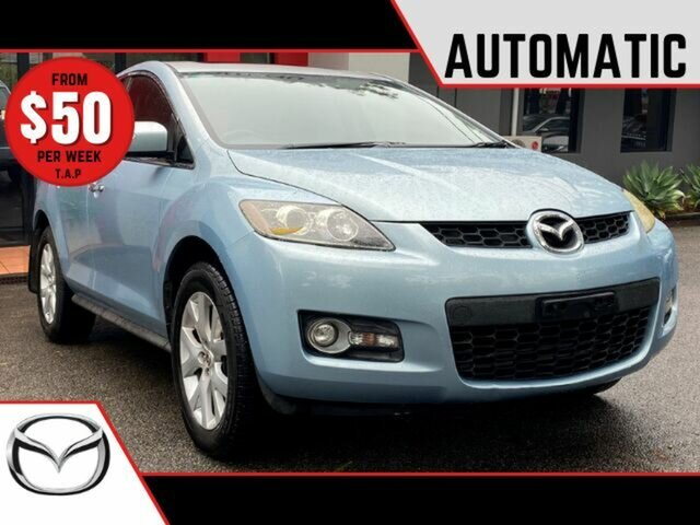 Used Mazda CX-7 ER1031 MY07 Luxury Ashmore, 2006 Mazda CX-7 ER1031 MY07 Luxury Metallic Blue 6 Speed Sports Automatic Wagon