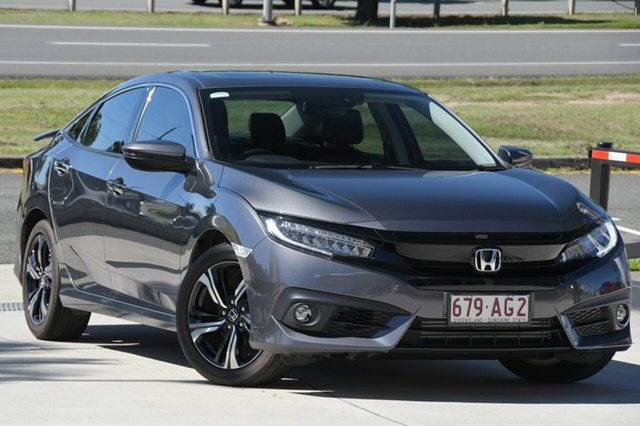 Used Honda Civic 10th Gen MY18 RS North Lakes, 2018 Honda Civic 10th Gen MY18 RS Grey 1 Speed Constant Variable Sedan