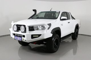 2017 Toyota Hilux GUN126R SR (4x4) White 6 Speed Manual X Cab Utility.