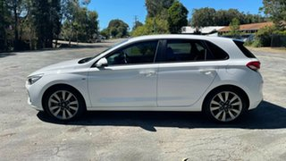 2017 Hyundai i30 PD MY18 SR D-CT Polar White 7 Speed Sports Automatic Dual Clutch Hatchback