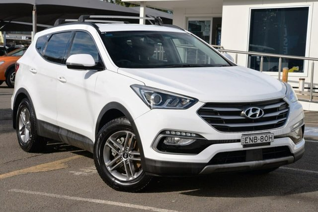 Used Hyundai Santa Fe DM5 MY18 Active North Gosford, 2017 Hyundai Santa Fe DM5 MY18 Active White 6 Speed Sports Automatic Wagon