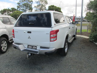2017 Mitsubishi Triton MQ MY17 GLX+ Double Cab White 6 Speed Manual Utility
