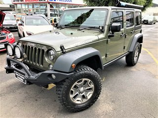 2015 Jeep Wrangler JK MY2015 Unlimited Rubicon Green 6 Speed Manual Softtop.