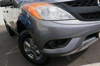 2014 Mazda BT-50 UP0YF1 XT 4x2 Hi-Rider Silver 6 Speed Manual Utility.