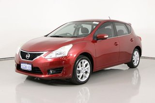2015 Nissan Pulsar C12 ST-S Red Continuous Variable Hatchback.