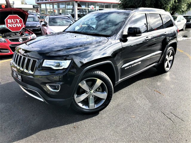 Used Jeep Grand Cherokee WK MY15 Limited Seaford, 2014 Jeep Grand Cherokee WK MY15 Limited Black 8 Speed Sports Automatic Wagon