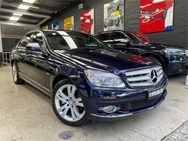Used Mercedes-Benz C-Class W204 C280 Avantgarde Glebe, 2007 Mercedes-Benz C-Class W204 C280 Avantgarde Tanzanite Blue Sports Automatic Sedan