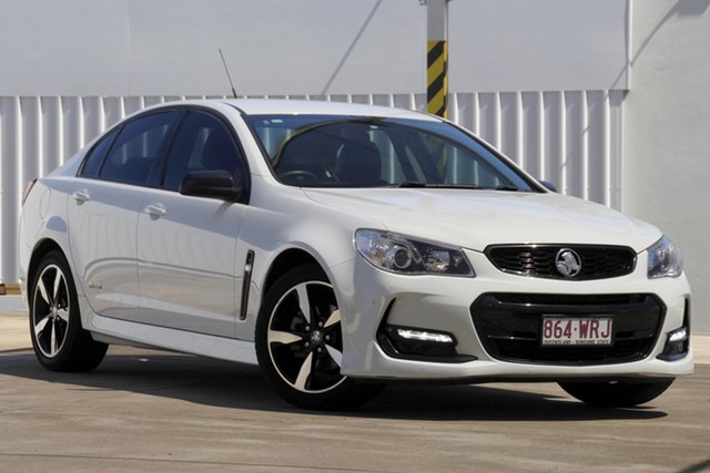Used Holden Commodore VF II MY16 SV6 Black Bundamba, 2016 Holden Commodore VF II MY16 SV6 Black White 6 Speed Sports Automatic Sedan
