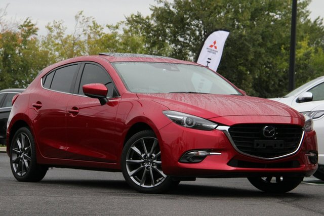Used Mazda 3 BN5438 SP25 SKYACTIV-Drive Astina Essendon Fields, 2017 Mazda 3 BN5438 SP25 SKYACTIV-Drive Astina Red 6 Speed Sports Automatic Hatchback