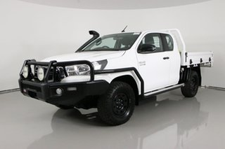 2019 Toyota Hilux GUN126R MY19 SR (4x4) White 6 Speed Manual X Cab Cab Chassis.