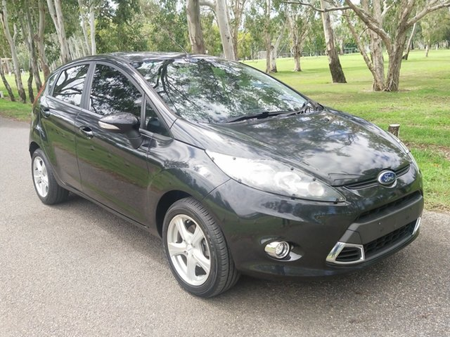 Used Ford Fiesta WT LX PwrShift North Rockhampton, 2012 Ford Fiesta WT LX PwrShift Black 6 Speed Sports Automatic Dual Clutch Hatchback