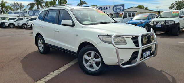 Used Hyundai Santa Fe CM MY07 SLX East Bunbury, 2007 Hyundai Santa Fe CM MY07 SLX White 5 Speed Sports Automatic Wagon
