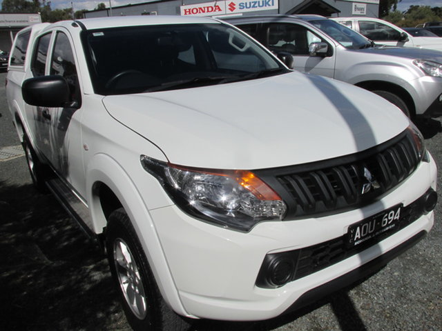 Used Mitsubishi Triton MQ MY17 GLX+ Double Cab Echuca, 2017 Mitsubishi Triton MQ MY17 GLX+ Double Cab White 6 Speed Manual Utility