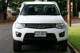 2014 Mitsubishi Triton MN MY15 GLX Double Cab 4x2 White 4 Speed Sports Automatic Utility