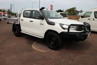 2017 Toyota Hilux GUN126R SR Double Cab Glacier White 6 Speed Manual Utility.