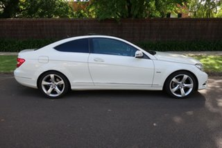 2012 Mercedes-Benz C-Class C204 C250 BlueEFFICIENCY 7G-Tronic + White 7 Speed Sports Automatic Coupe