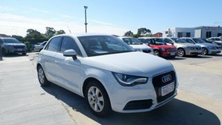 2012 Audi A1 8X MY12 Sport Sportback S Tronic White 7 Speed Sports Automatic Dual Clutch Hatchback.