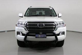 2020 Toyota Landcruiser VDJ200R LC200 VX (4x4) Pearl White 6 Speed Automatic Wagon.