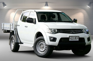 2014 Mitsubishi Triton MN MY15 GLX Double Cab 4x2 White 4 Speed Sports Automatic Utility.