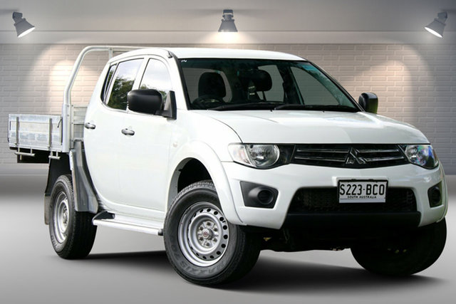 Used Mitsubishi Triton MN MY15 GLX Double Cab 4x2 Nailsworth, 2014 Mitsubishi Triton MN MY15 GLX Double Cab 4x2 White 4 Speed Sports Automatic Utility