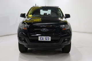 2017 Ford Ranger PX MkII XLS Double Cab Black/Grey 6 Speed Sports Automatic Utility.