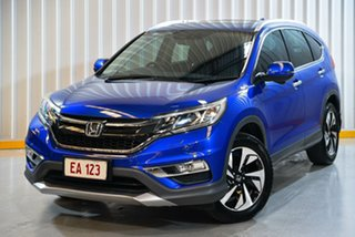 2015 Honda CR-V RM Series II MY16 VTi-L Blue 5 Speed Sports Automatic Wagon.