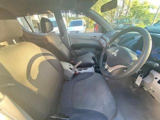 2009 Mitsubishi Triton MN MY10 GLX Double Cab White 5 Speed Manual Utility