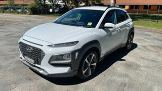 2018 Hyundai Kona OS MY18 Highlander 2WD Chalk White 6 Speed Sports Automatic Wagon.