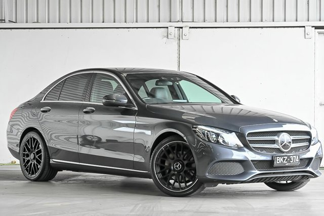 Used Mercedes-Benz C-Class W205 807MY C250 7G-Tronic + Laverton North, 2016 Mercedes-Benz C-Class W205 807MY C250 7G-Tronic + Grey 7 Speed Sports Automatic Sedan