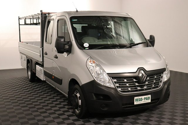 Used Renault Master X62 Double Cab LWB AMT RWD Acacia Ridge, 2016 Renault Master X62 Double Cab LWB AMT RWD Silver 6 speed Automatic Cab Chassis