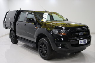 2017 Ford Ranger PX MkII XLS Double Cab Black/Grey 6 Speed Sports Automatic Utility