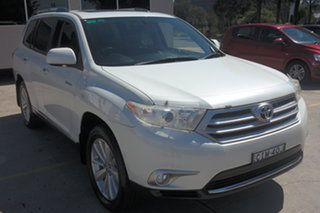 2012 Toyota Kluger GSU45R MY12 Grande AWD White 5 Speed Sports Automatic Wagon.