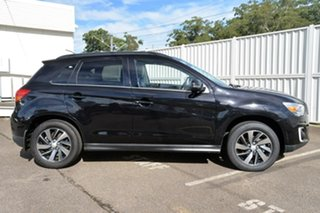 2014 Mitsubishi ASX XB MY15 XLS 2WD Black 6 Speed Constant Variable Wagon.