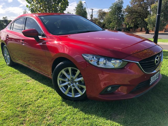 Used Mazda 6 GJ1031 Touring SKYACTIV-Drive Hindmarsh, 2013 Mazda 6 GJ1031 Touring SKYACTIV-Drive Soul Red 6 Speed Sports Automatic Sedan
