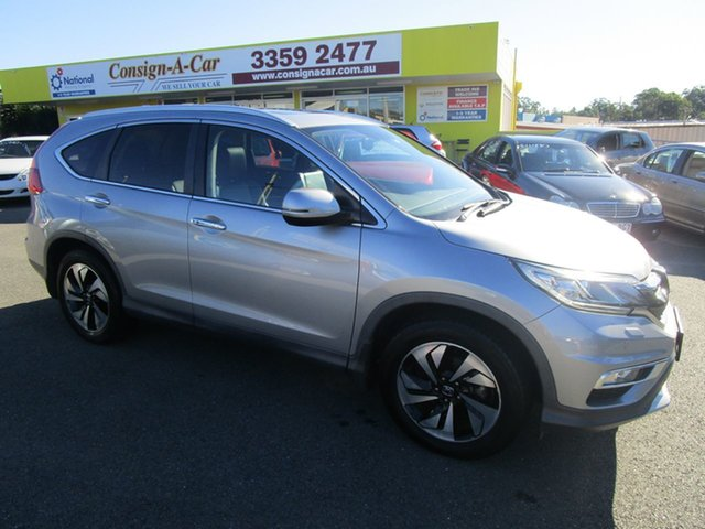 Used Honda CR-V RM Series II MY17 VTi-S 4WD Kedron, 2016 Honda CR-V RM Series II MY17 VTi-S 4WD Silver 5 Speed Sports Automatic Wagon