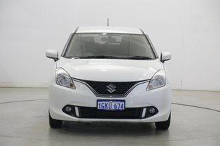 2017 Suzuki Baleno EW GL Pearl White 4 Speed Automatic Hatchback.