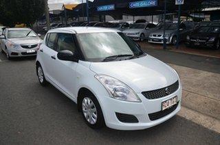 2013 Suzuki Swift FZ MY13 GL White 4 Speed Automatic Hatchback.